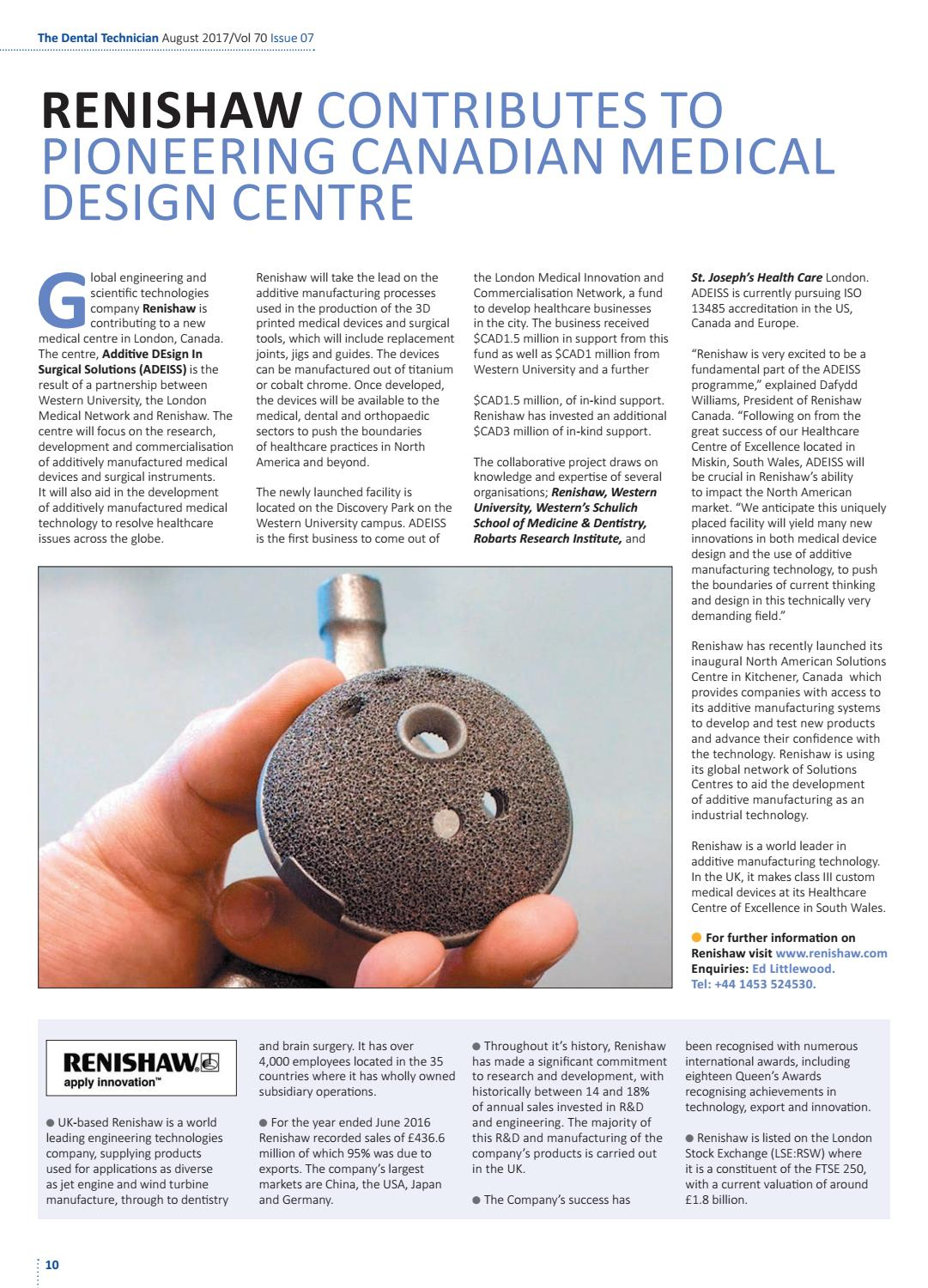 The Dental Technician Magazine August 2017 Issue Online