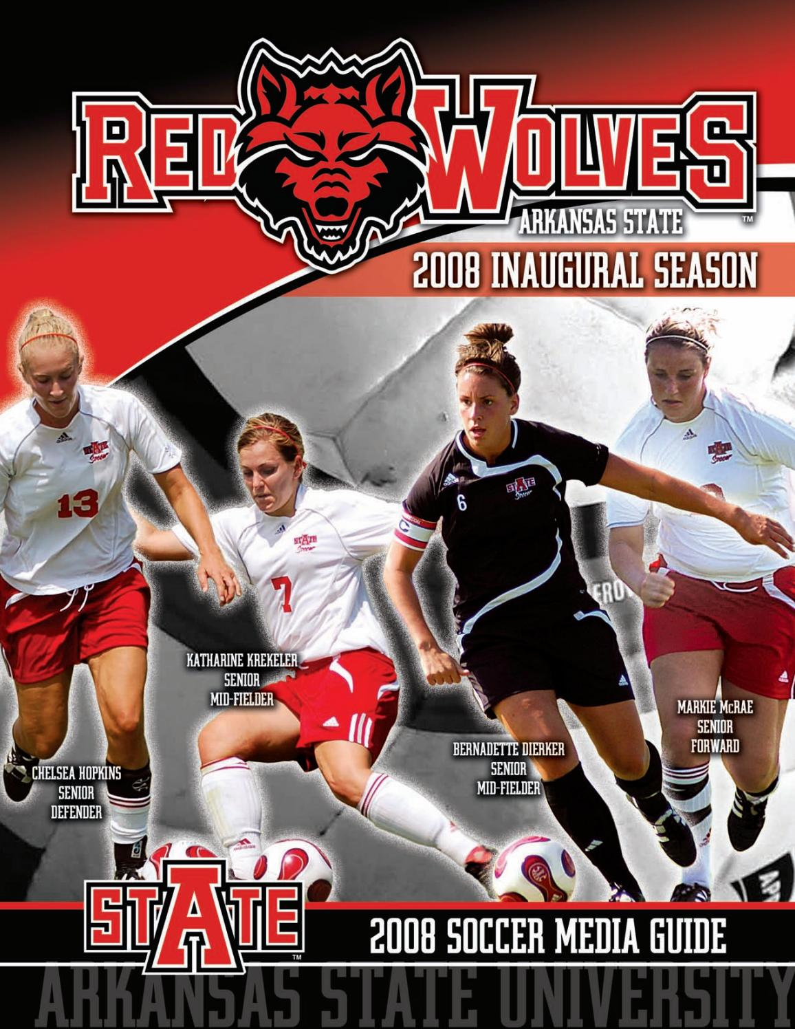 2008 Arkansas State Soccer Reference Guide by