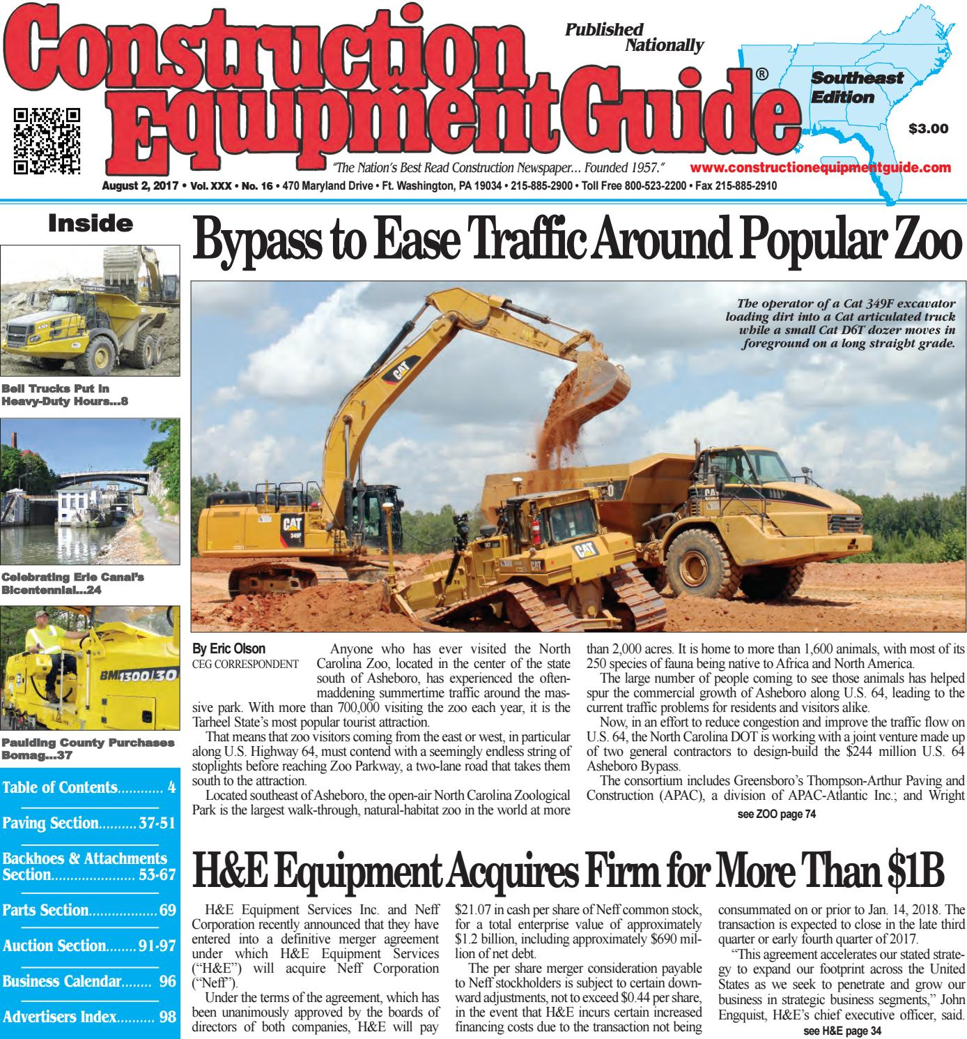 Southeast 16 August 2, 2017 by Construction Equipment Guide