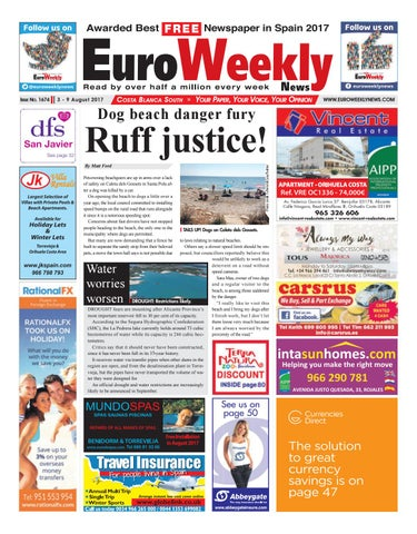 Euro Weekly News - Costa Blanca South 3 – 9 August 2017 Issue 1674