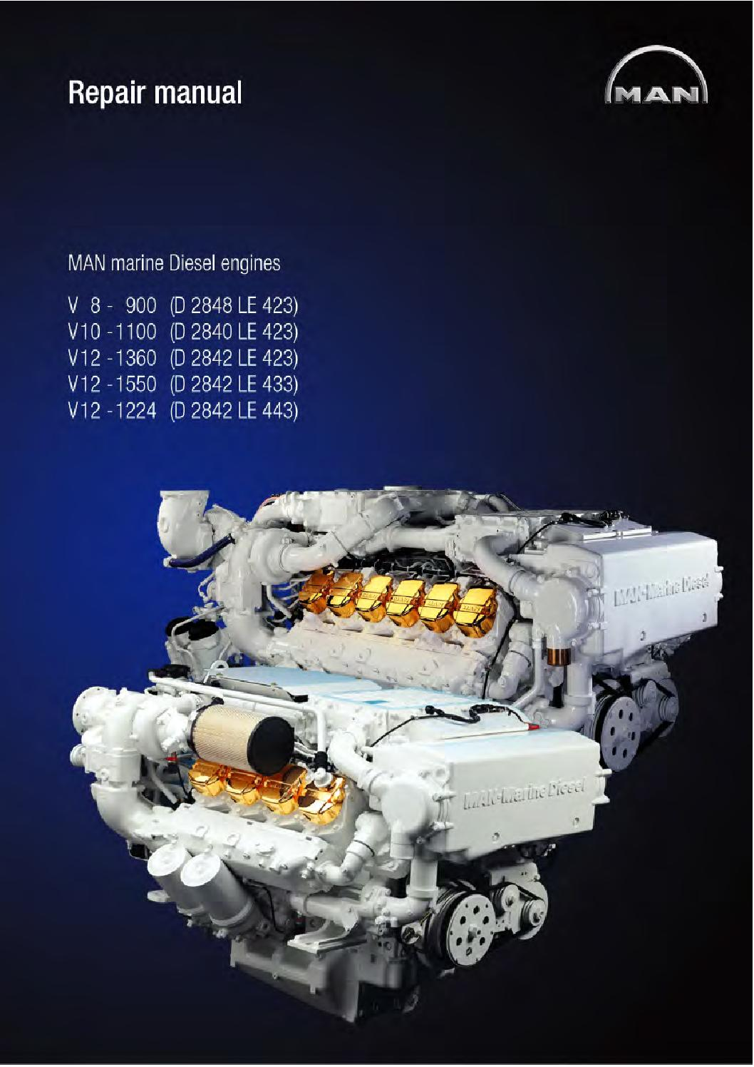 Hp Parts Store >> Man marine diesel engine v12 1360 (d 2842 le 423) service ...