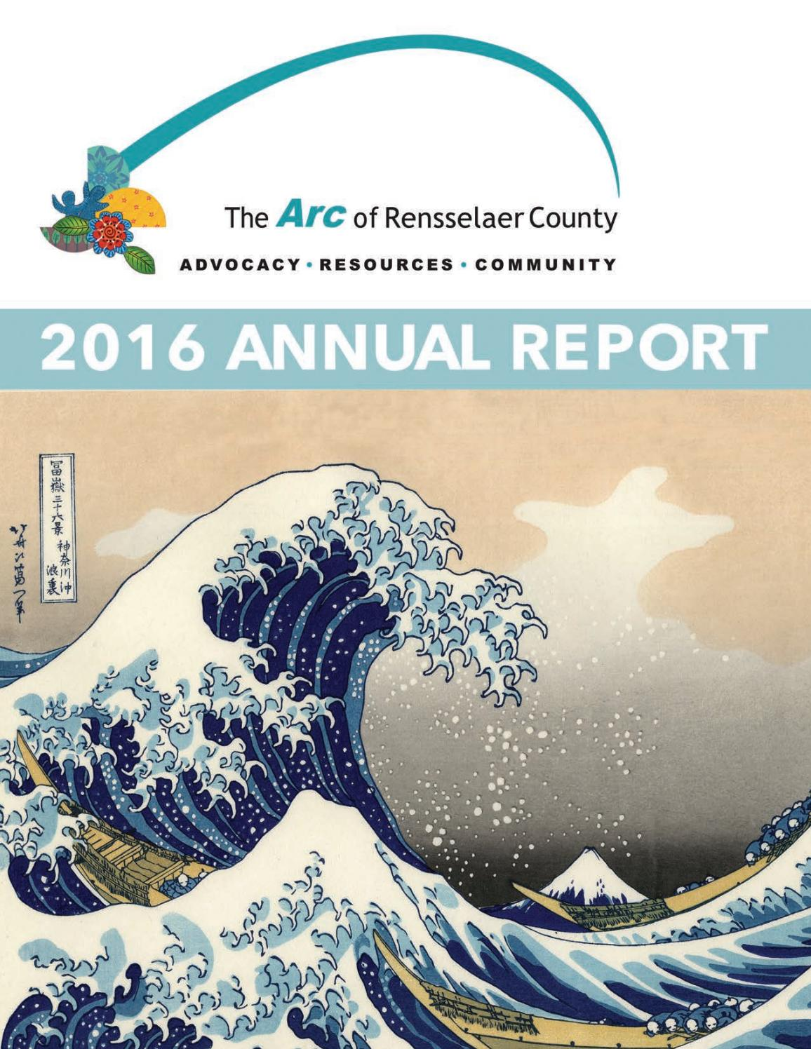 2016 Annual Report by The Arc of Rensselaer County - issuu