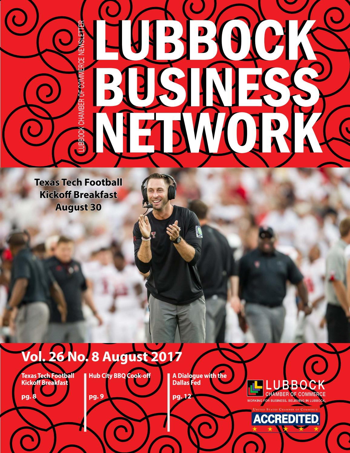 Lubbock Business Network - August 2017 Newsletter by Lubbock