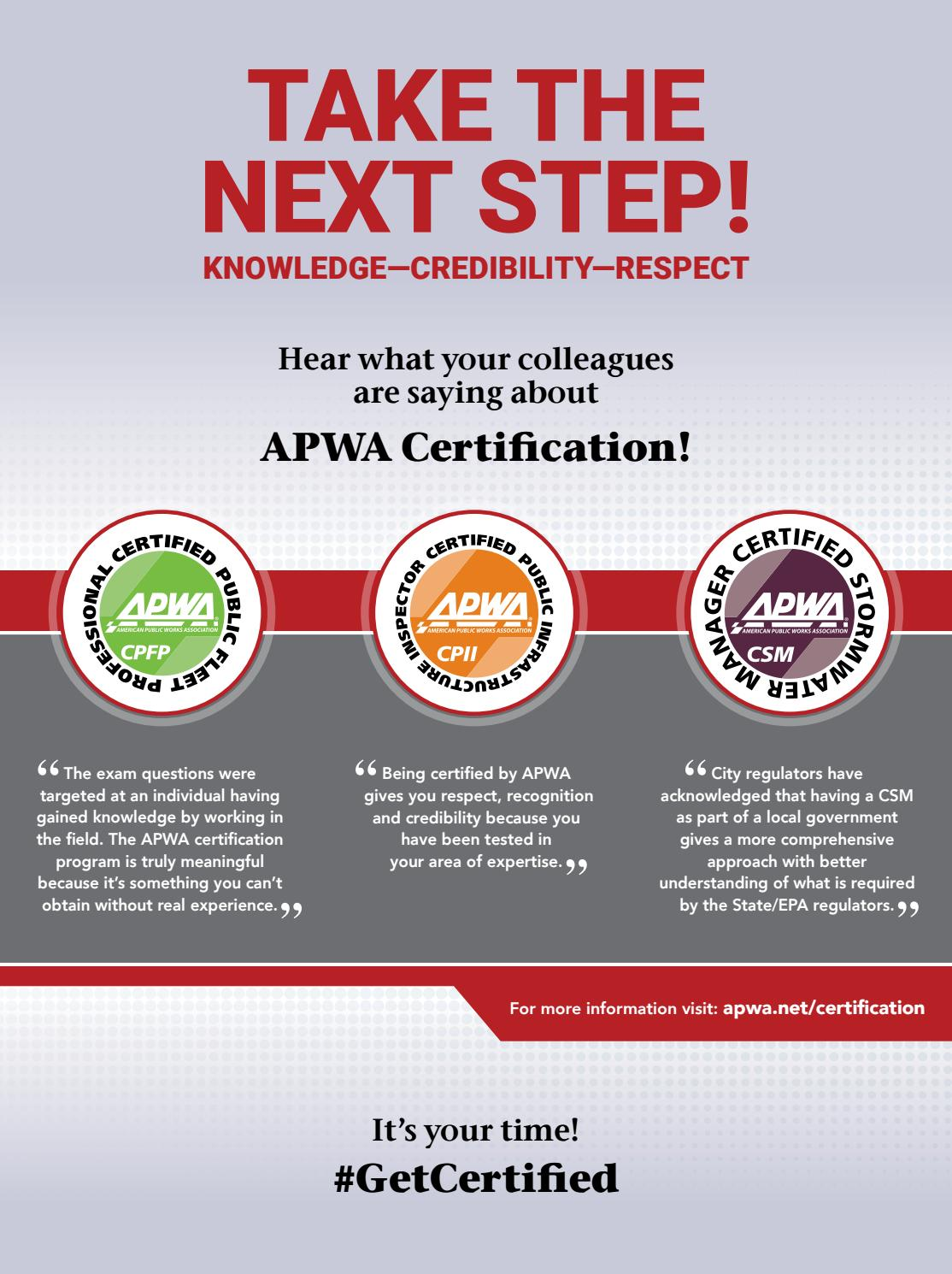 Apwa Reporter August 2017 Issue By American Public Works