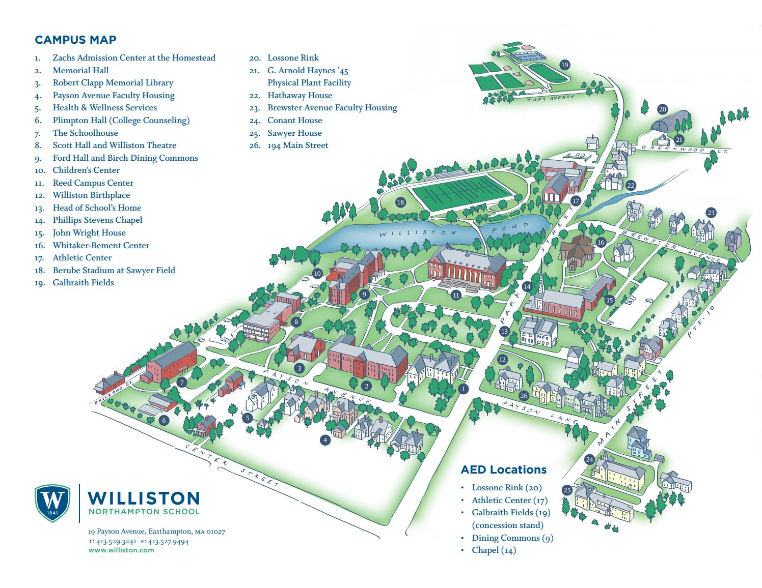 The williston northampton school campus map by williston for The williston