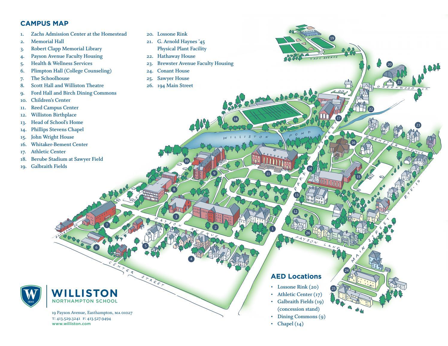the williston northampton school campus map by williston northampton school issuu. the williston northampton school campus map by williston