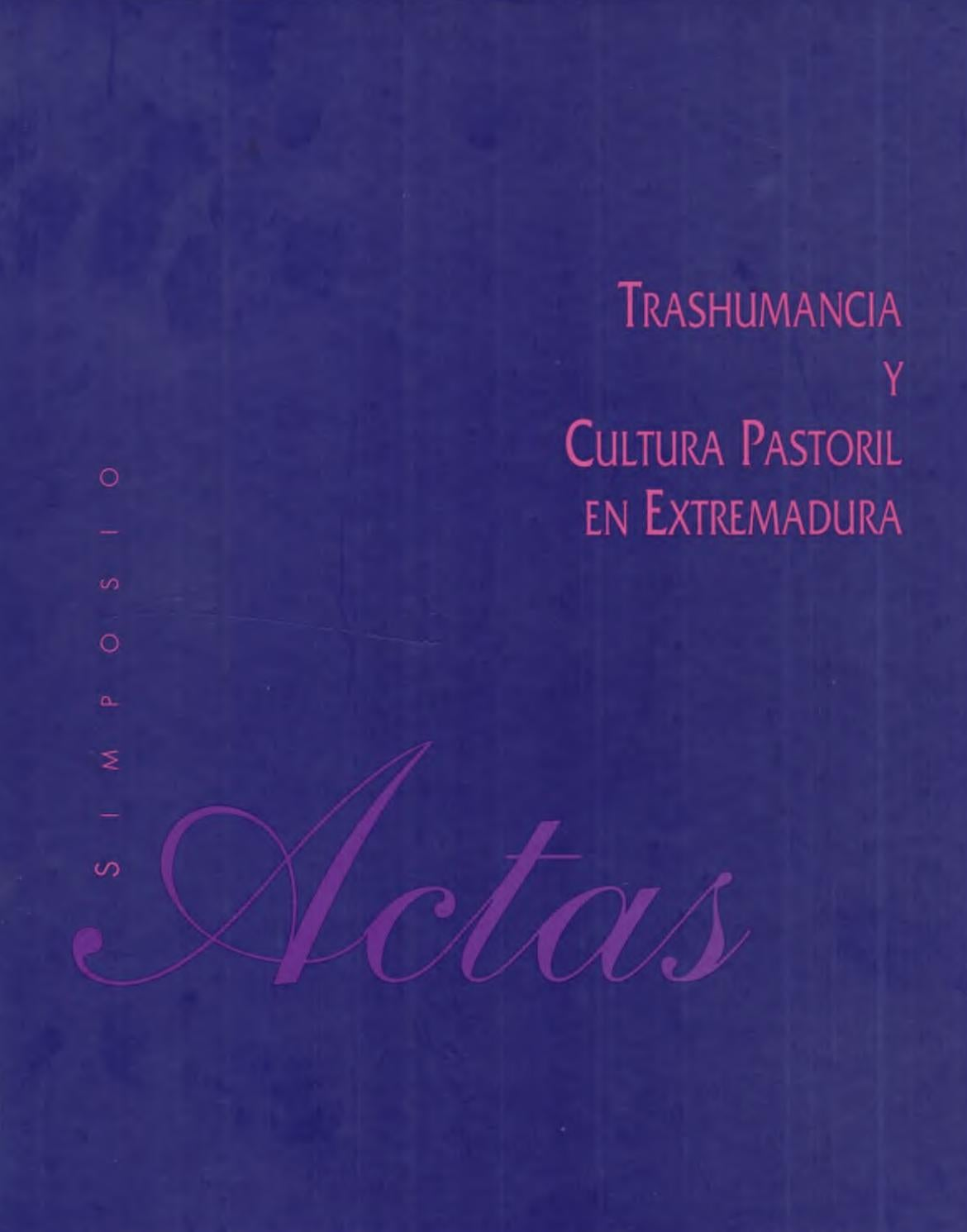 actas del simposio sobre trashumancia y cultura pastoril 1992 by rh issuu com