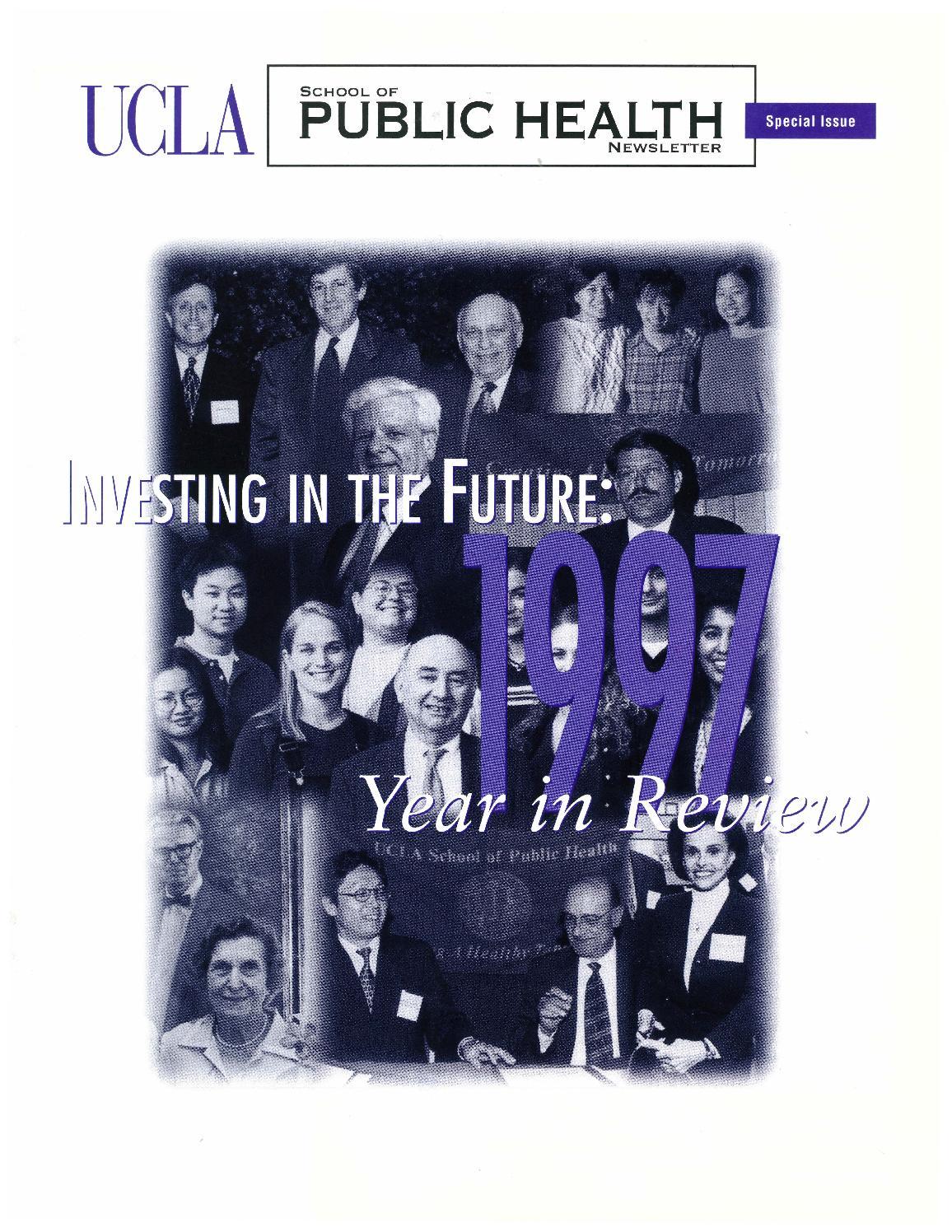 UCLA School of Public Health Newsletter - 1997 Year in