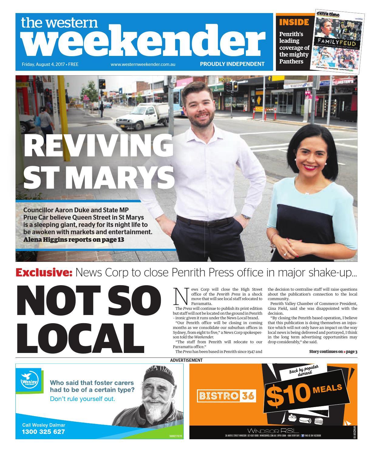 Western Weekender August 4 By Western Sydney Publishing Group Issuu