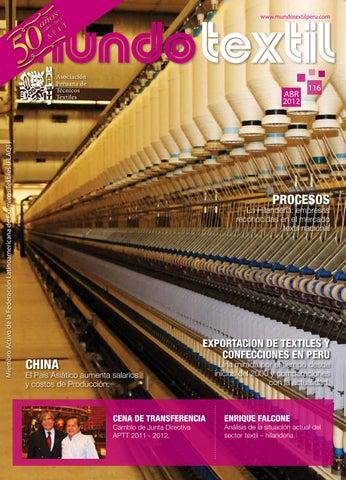 Mundo textil 116 by Asociación Peruana de Técnicos Textiles - issuu fb15fa82f99