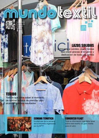 fbd4e16a2a Mundo textil 123 by Asociación Peruana de Técnicos Textiles - issuu