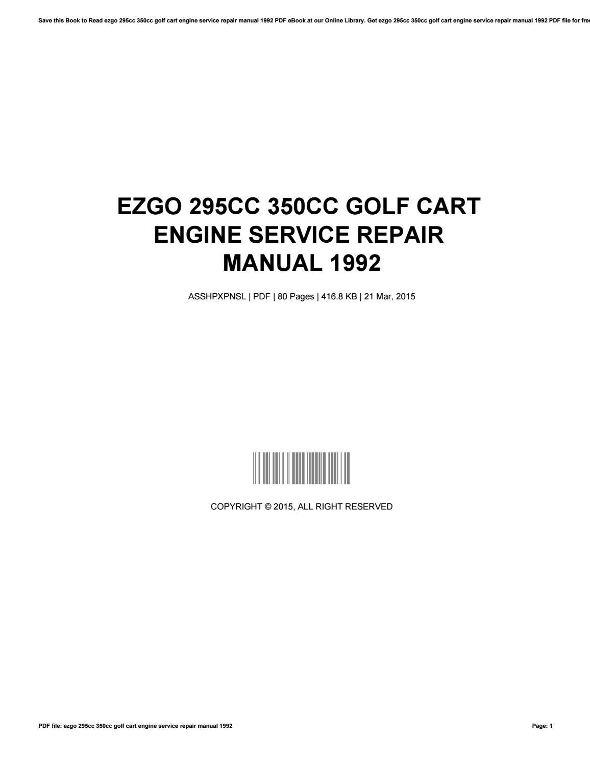 Ezgo Cart Manual Engine Schematics Golf Service Repair Joycejackson Issuu 1156x1496