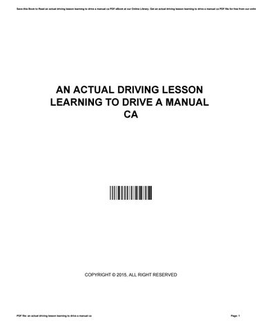 The official dvsa guide to driving the essential skills.