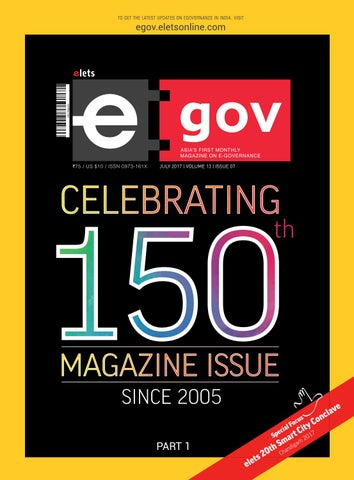 eGov Celebrating 150th Magazine Issue Since 2005 :: July 2017 by