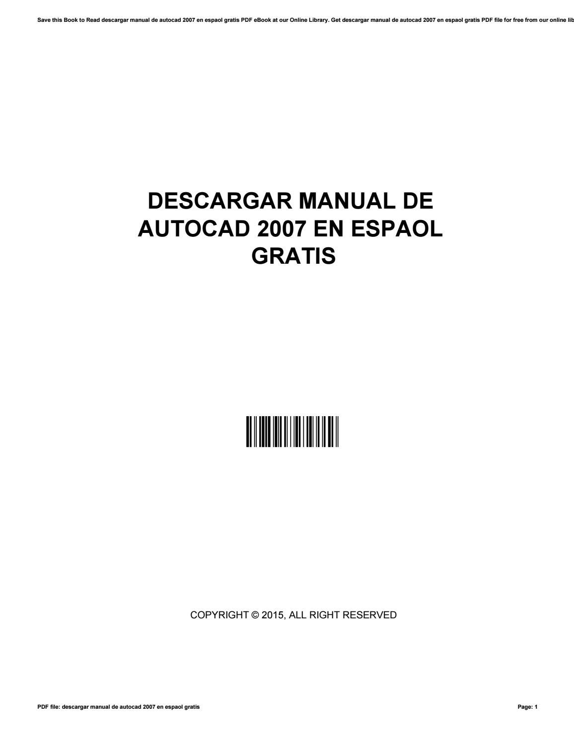 Descargar manual de autocad 2007 en espaol gratis by IreneEarly2648 - issuu