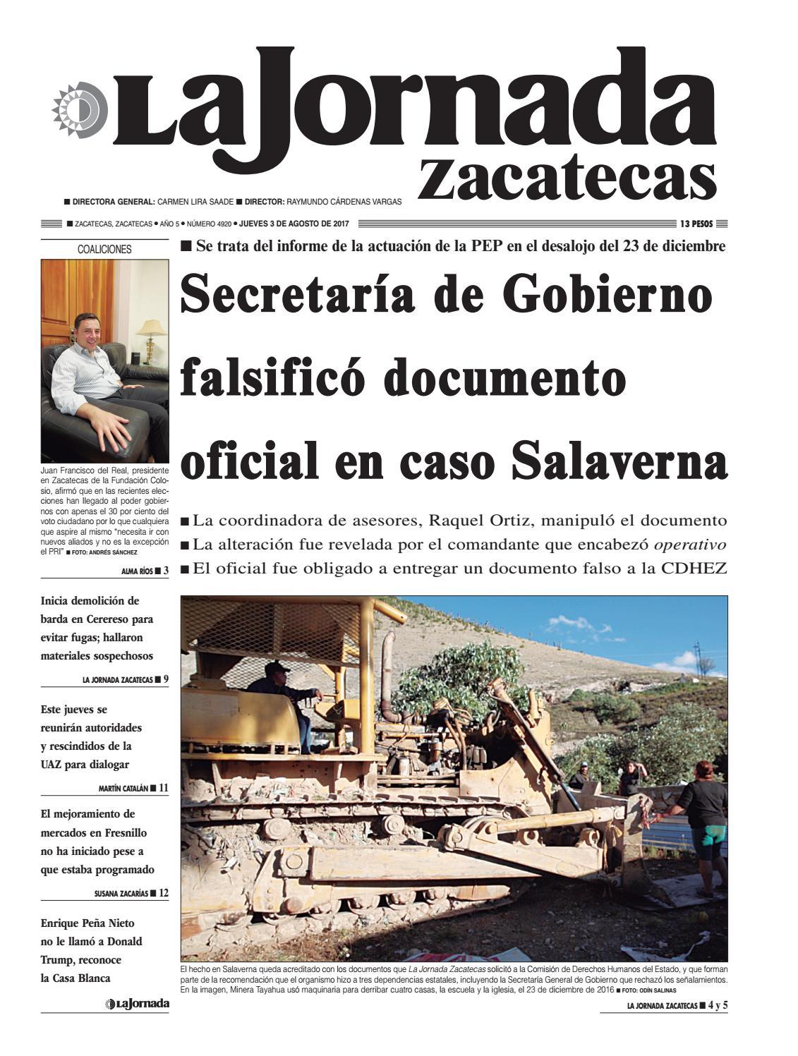 La Jornada Zacatecas Jueves 3 De Agosto De 2017 By La Jornada