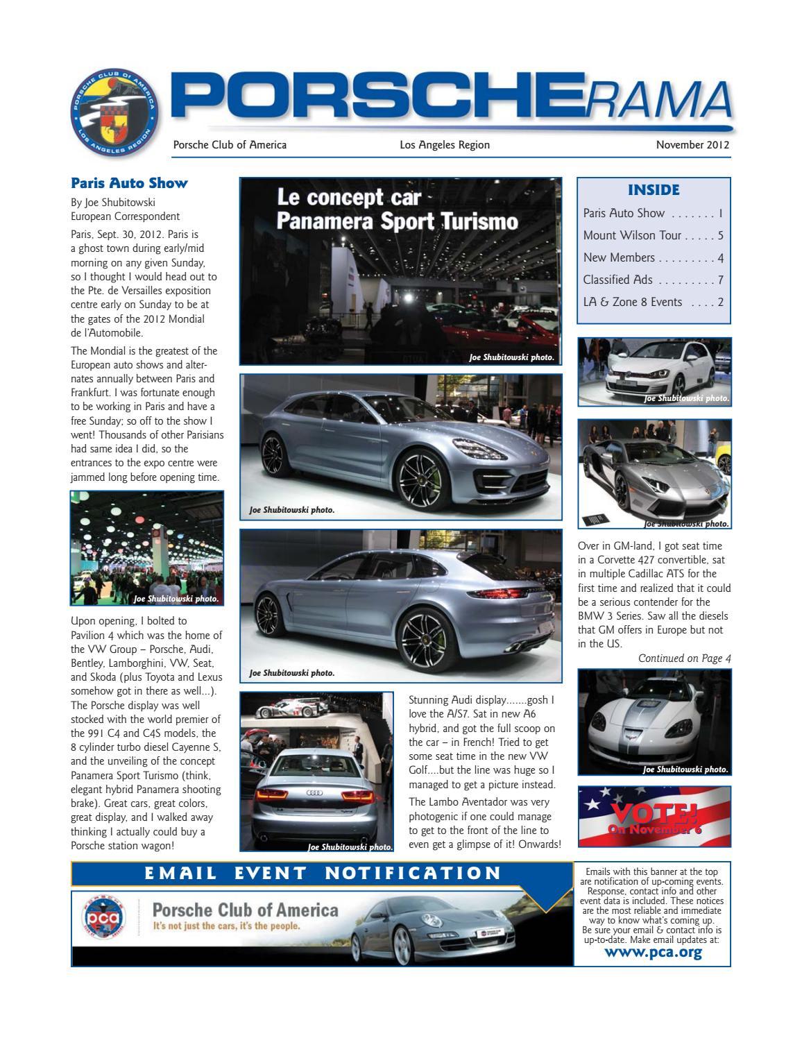 Porscherama 2012 November by Porsche Club of America, Los