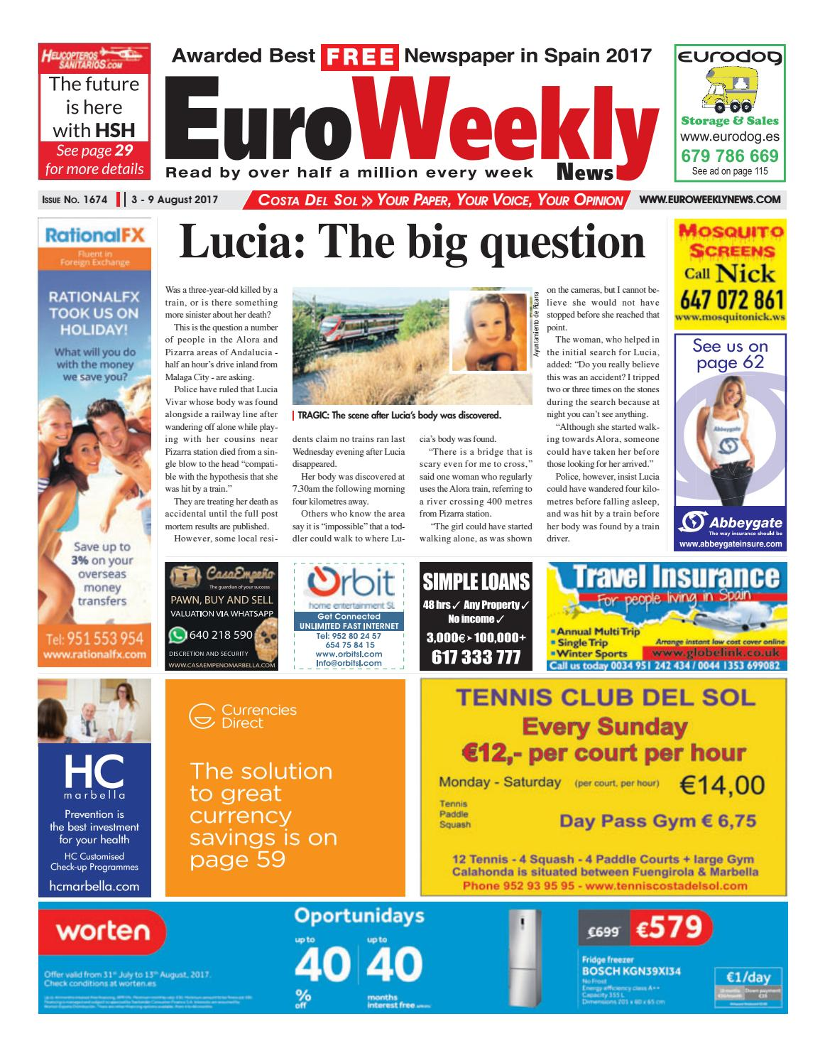 fdf9be8d54ab Euro Weekly News - Costa del Sol 3 - 9 August 2017 Issue 1674 by ...