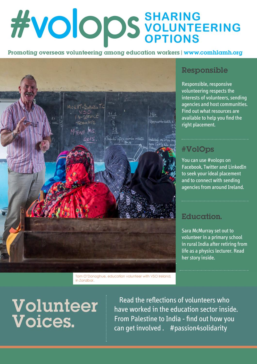 VolOps Education Leaflet by Comhlamh - issuu
