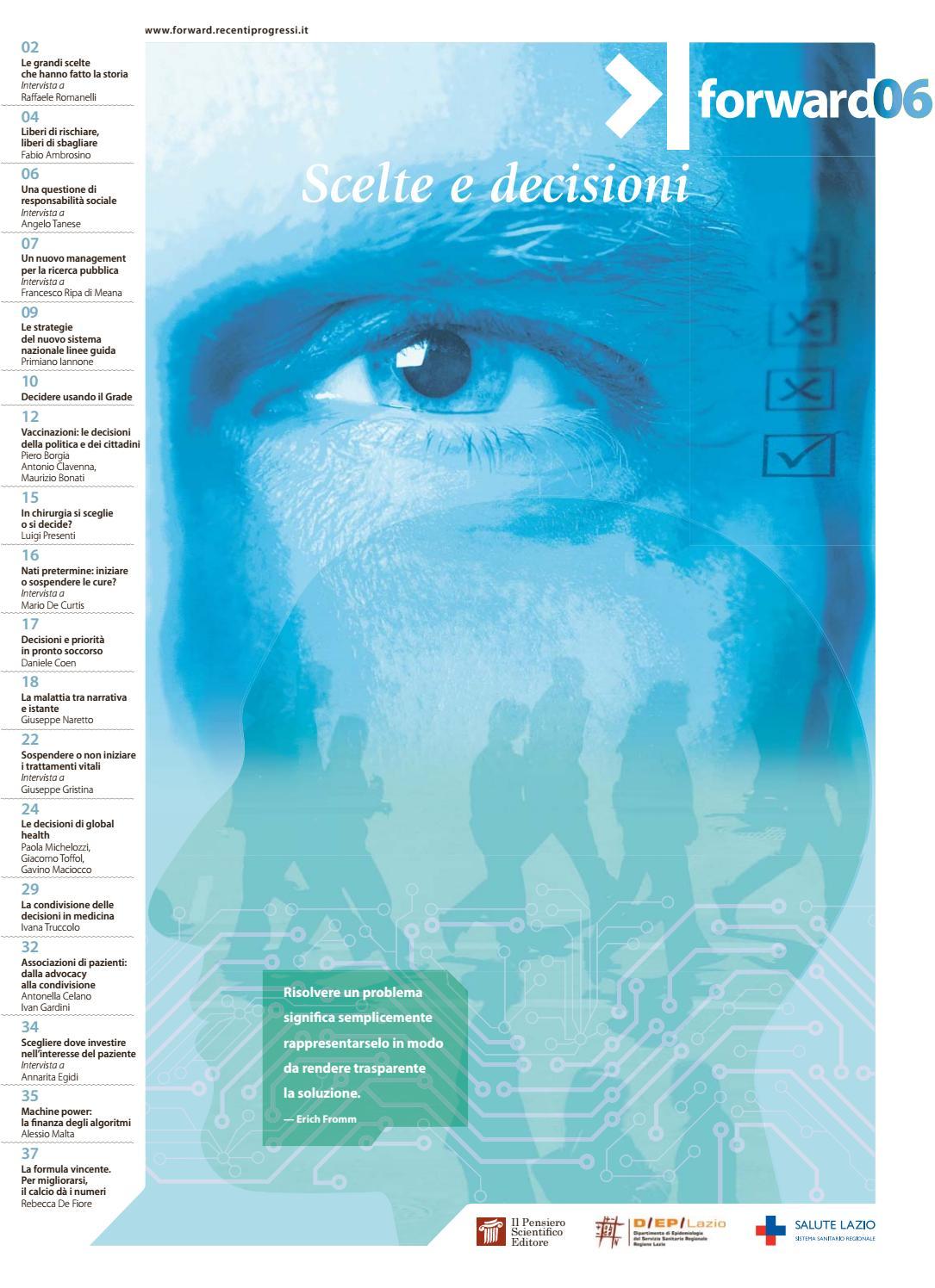 Num 06 - 2017 Scelte e decisioni by Il Pensiero Scientifico Editore - issuu db978a3989f5