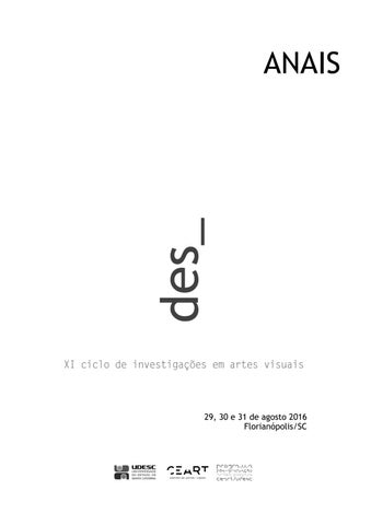 Anais des xi ciclo de investigaes em artes visuais by desciclo page 1 fandeluxe Images