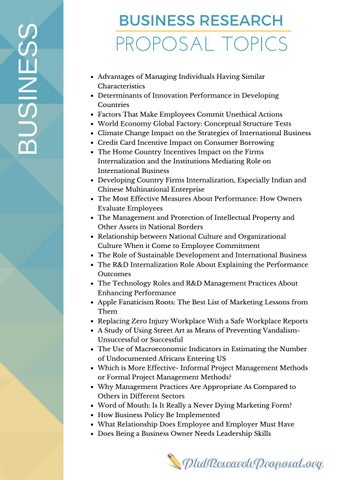 phd research proposal topics by phd research proposal issuu business