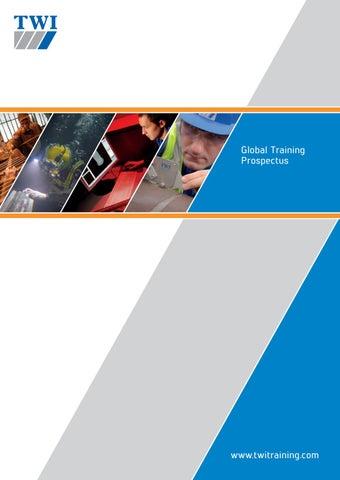 Twi Global Training Prospectus 2017 By Twi Ltd Issuu