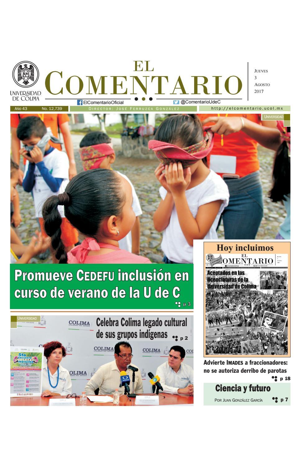 Edición del jueves 3 de agosto de 2017 by Pepe Ferruzca - issuu