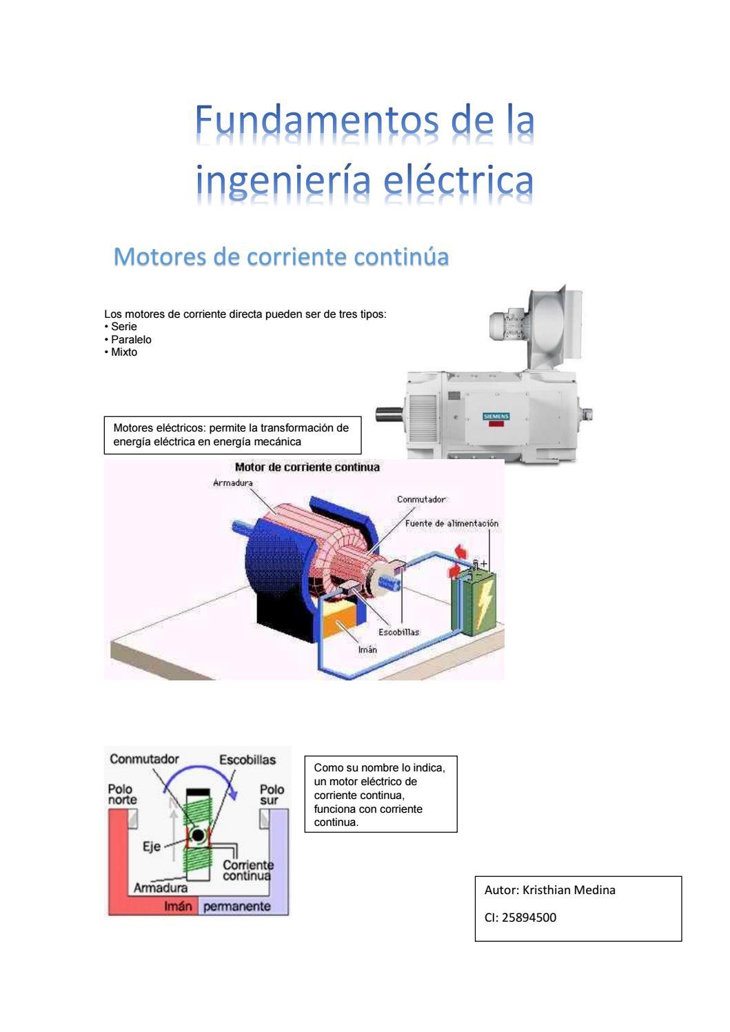 Tipos de motores de corriente continua