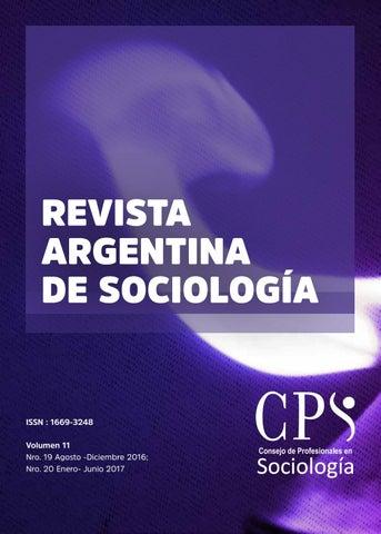 Revista Argentina de Sociología by Colegio De Sociólogos BsAs - issuu f3f996029f7e4