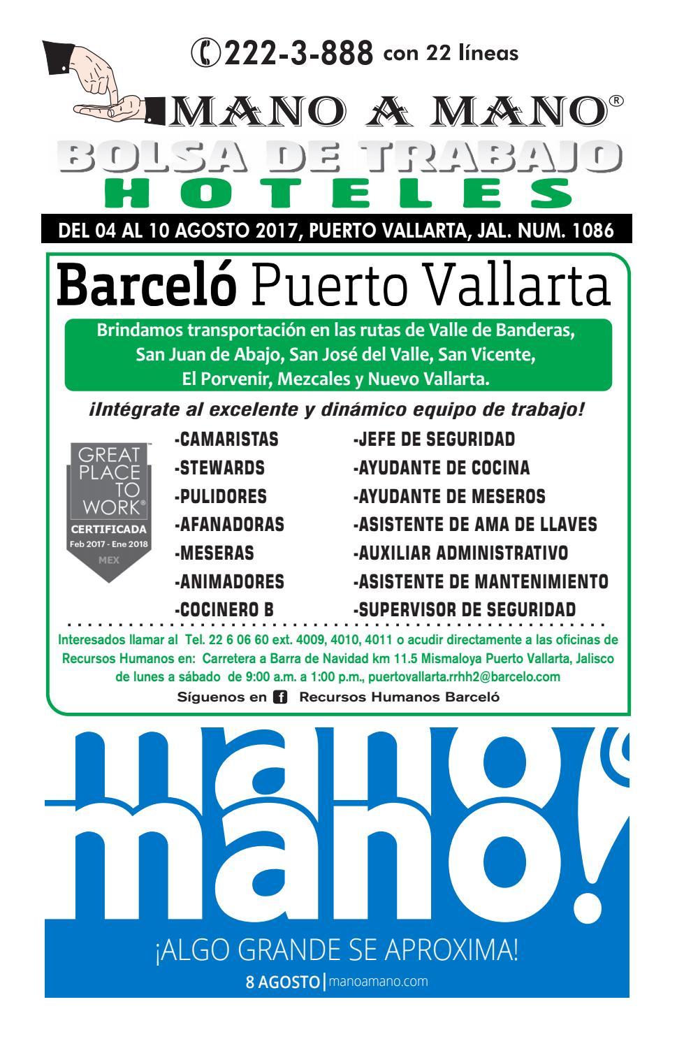 Bolsa trabajo hoteles 1086 by MANO A MANO - issuu