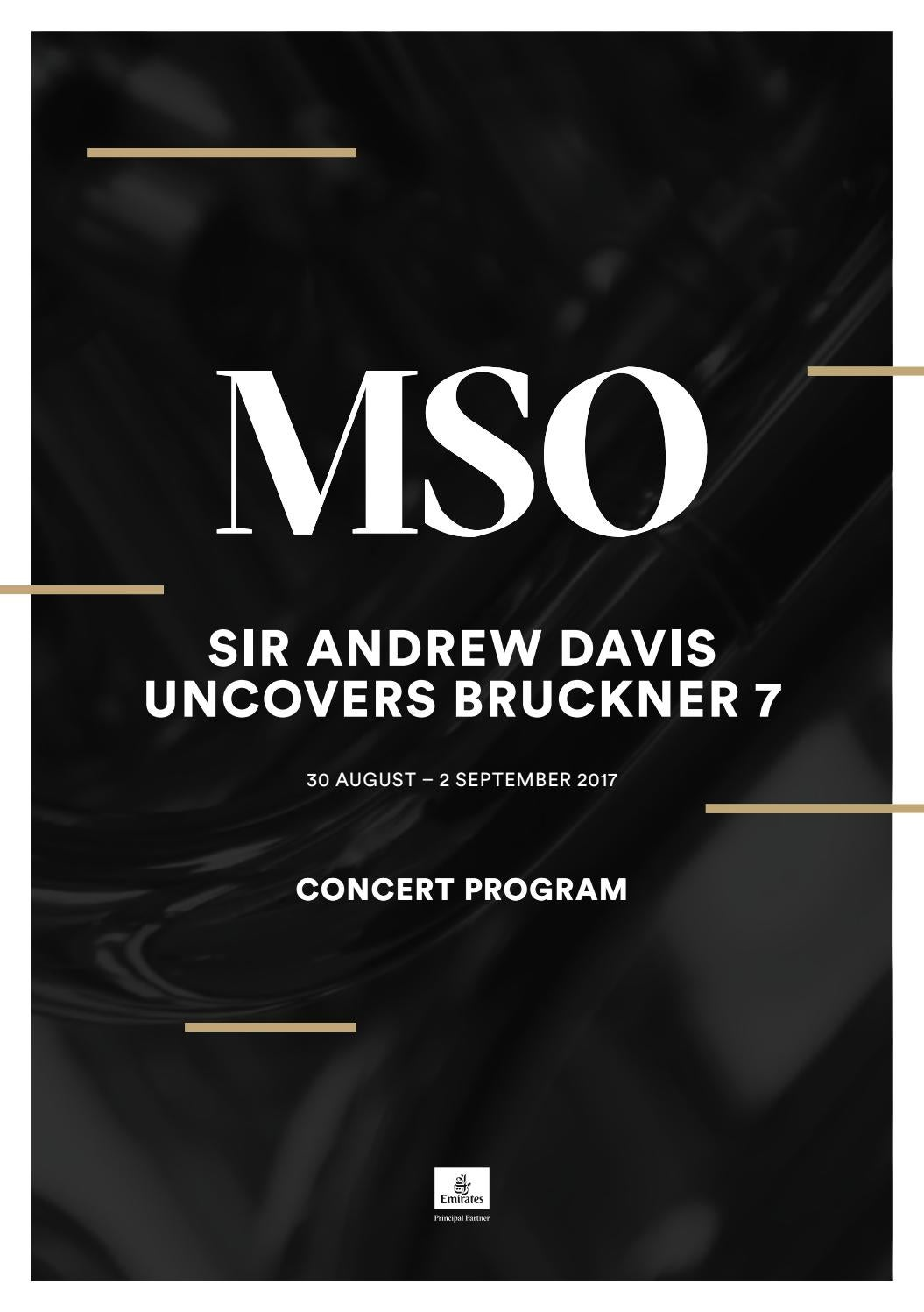Sir Andrew Davis Uncovers Bruckner 7 By Melbourne Symphony Orchestra