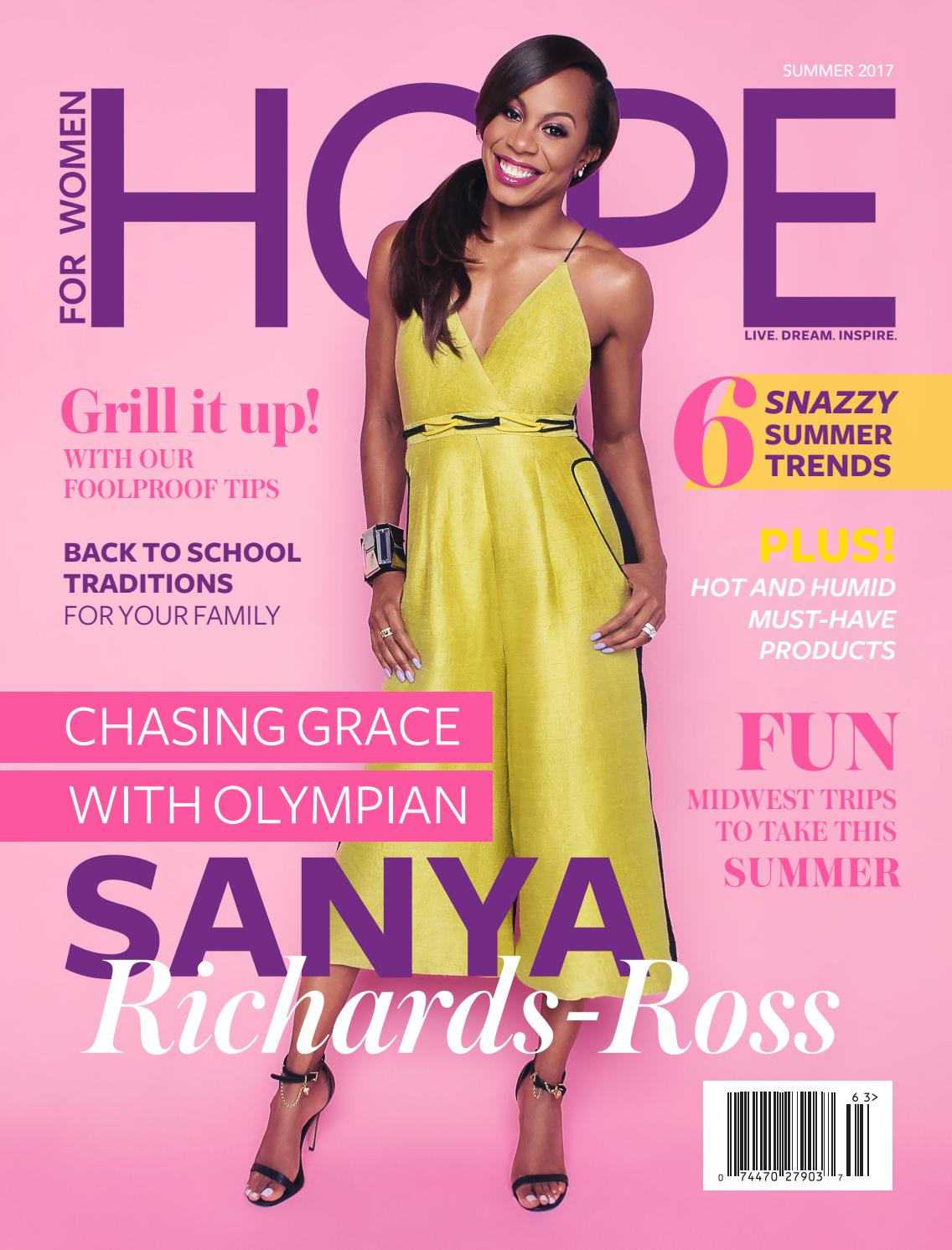 Your Amazing Summer With Sanya Richard Ross By Hopeforwomenmag Issuu