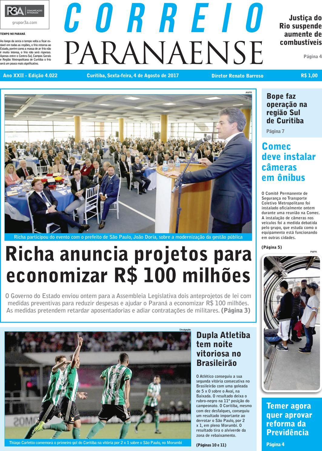 adc9328594cba Correio Paranaense - Edição 04 08 2017 by Editora Correio Paranaense - issuu