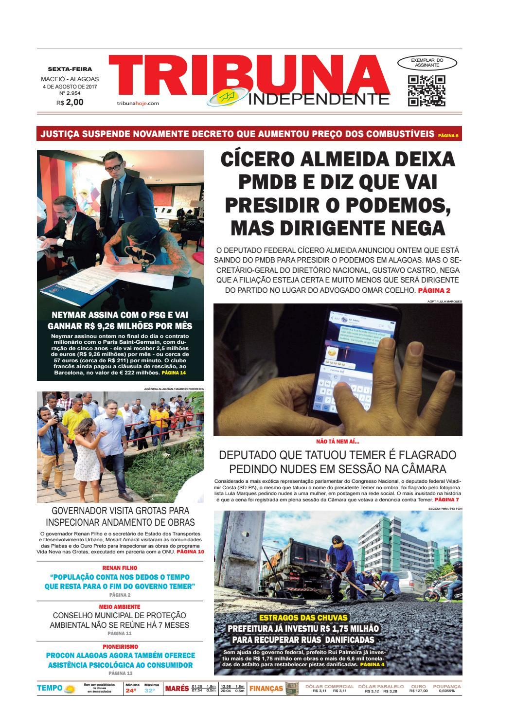 c614c38acf48e Edição número 2954 - 4 de agosto de 2017 by Tribuna Hoje - issuu