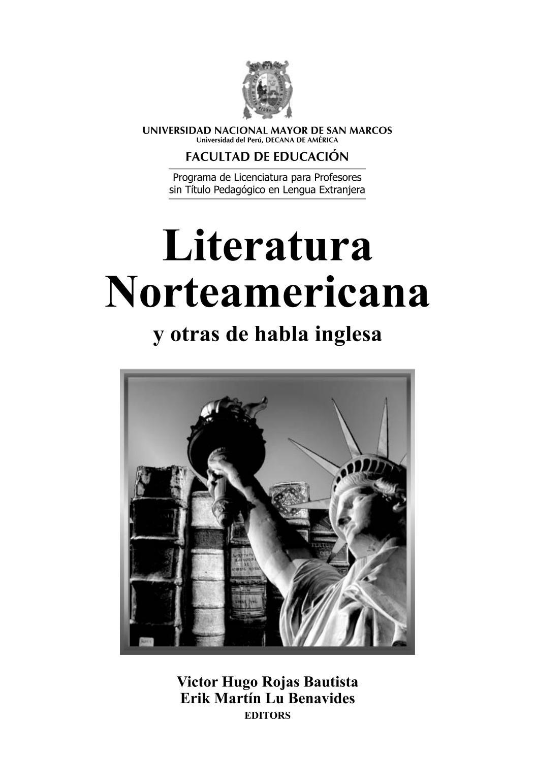 Literatura Norteamericana Y Otras De Habla Inglesa By Unmsm Prolex Issuu