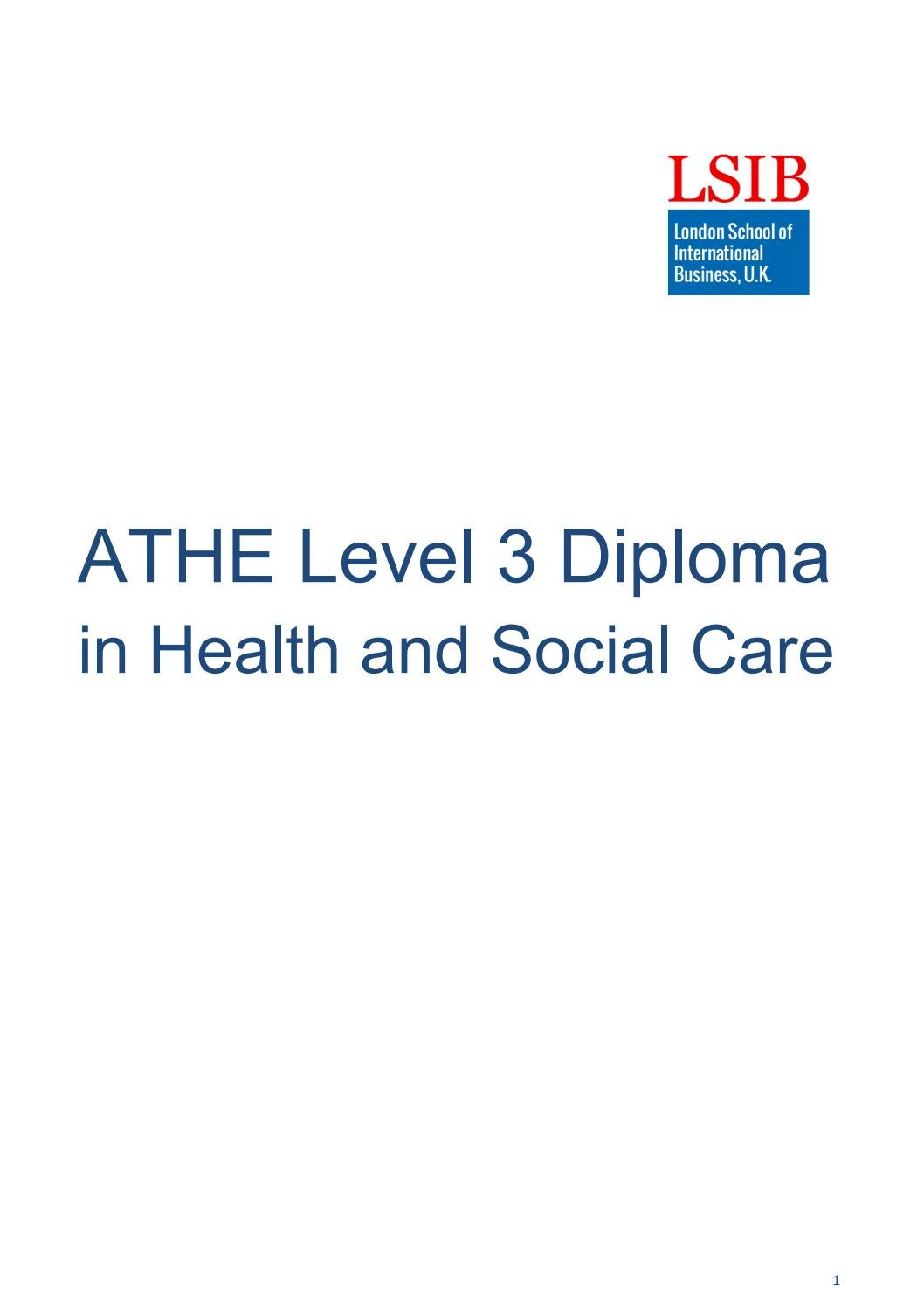 lsib,uk - level 3 diploma in health and social care by lsib - issuu