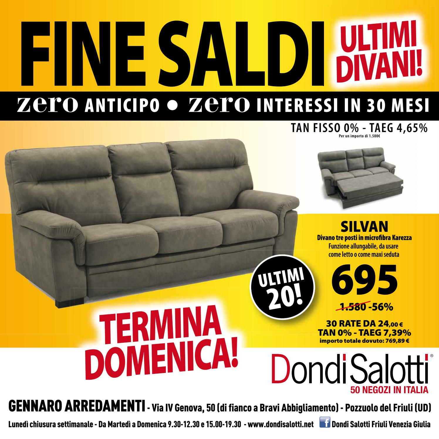 Saldi Dondi Salotti.Dondi Salotti Fine Saldi Udine By Michele Travagli Issuu