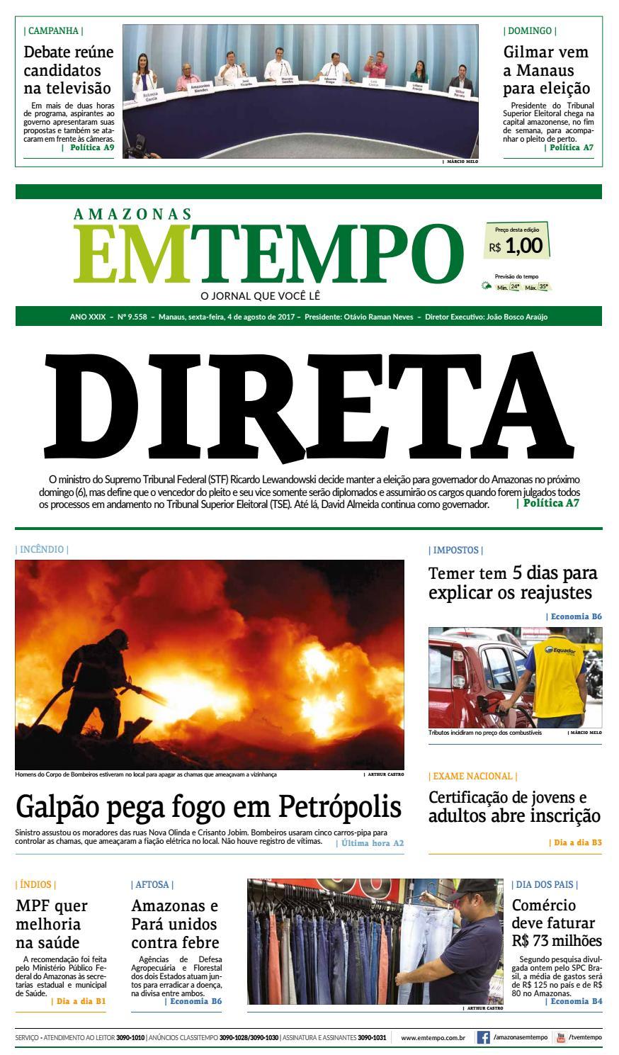 EM TEMPO- 04 de agosto de 2017 by Amazonas Em Tempo - issuu b8877c3eb0dc3