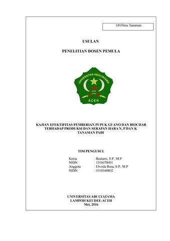 Proposal Dosen Pemula By Bustami Muchtar Issuu