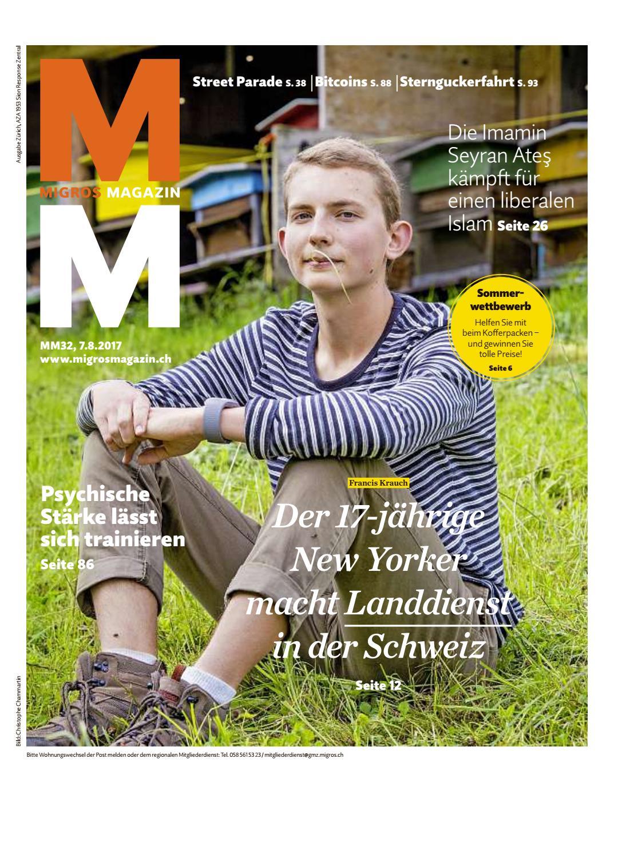 Migros magazin 32 2017 d zh by Migros-Genossenschafts-Bund - issuu