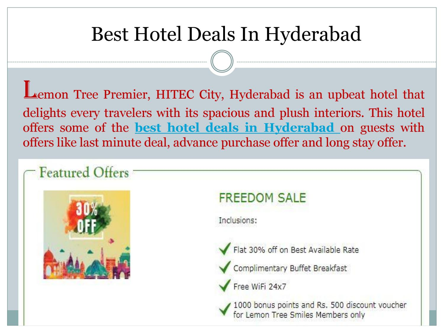 Best hotel deals in hyderabad by kirtisharma issuu for Best hotel offers