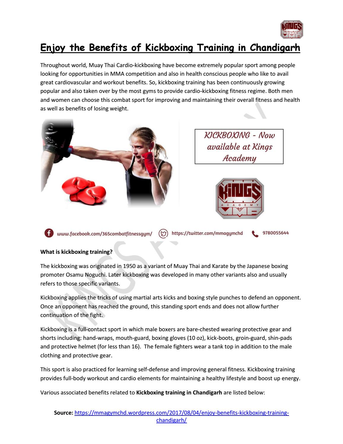Kickboxing training in Chandigarh | Kings Academy by Kings