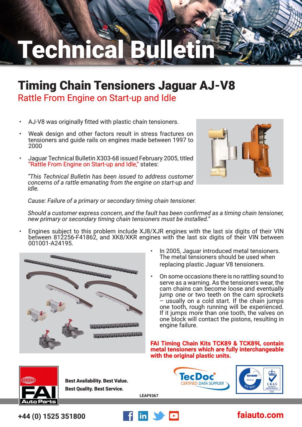 LEAF 9367 Technical Bulletin TCK89 Tensioner by FAI