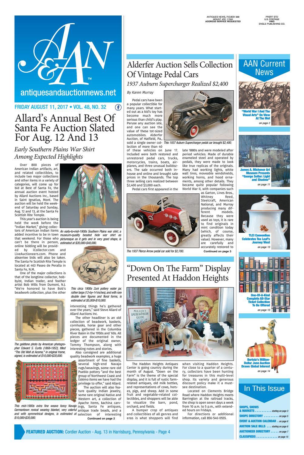 Antiques & Auction News 081117 by Antiques & Auction News