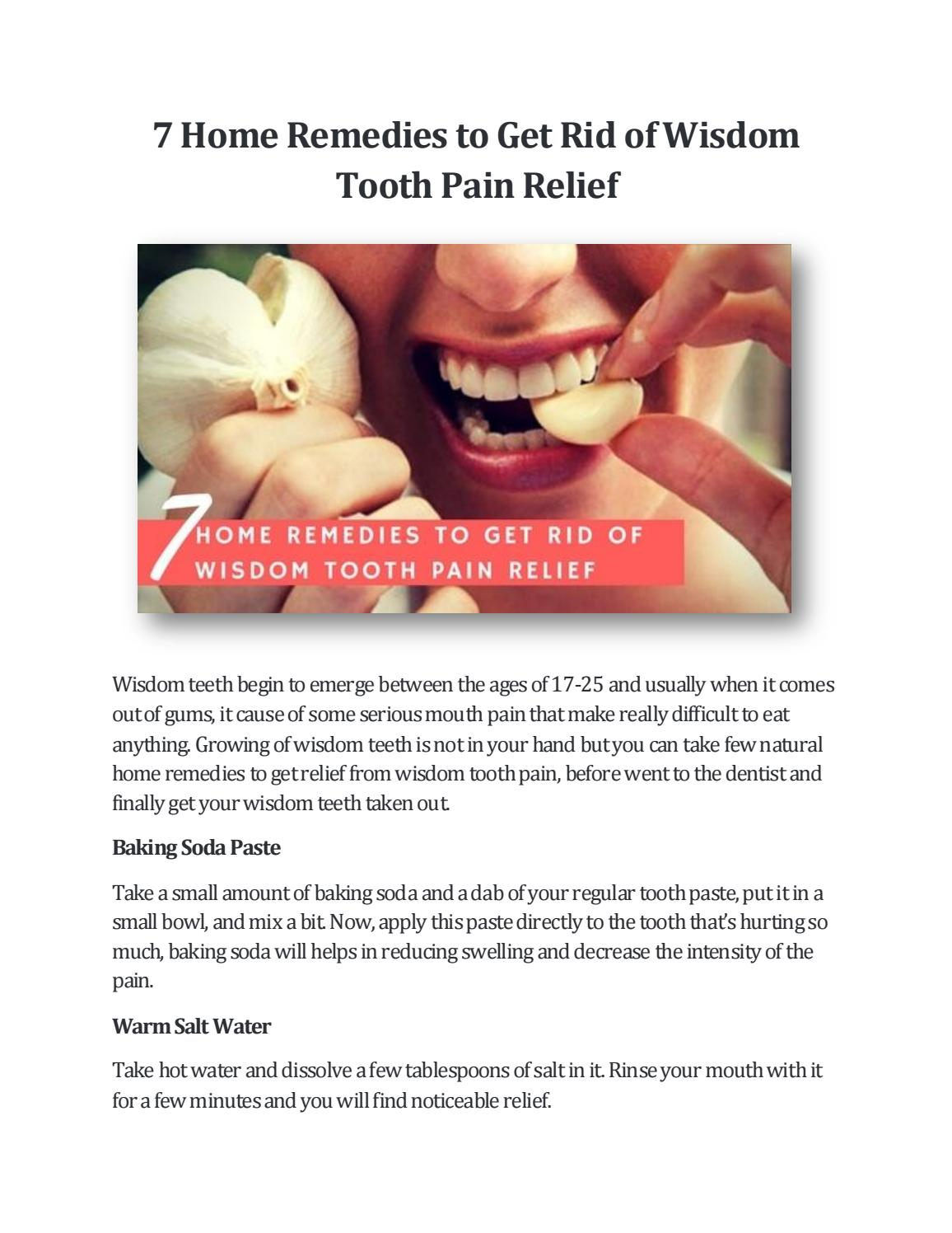 Home Remedies To Get Rid Of Tooth Pain