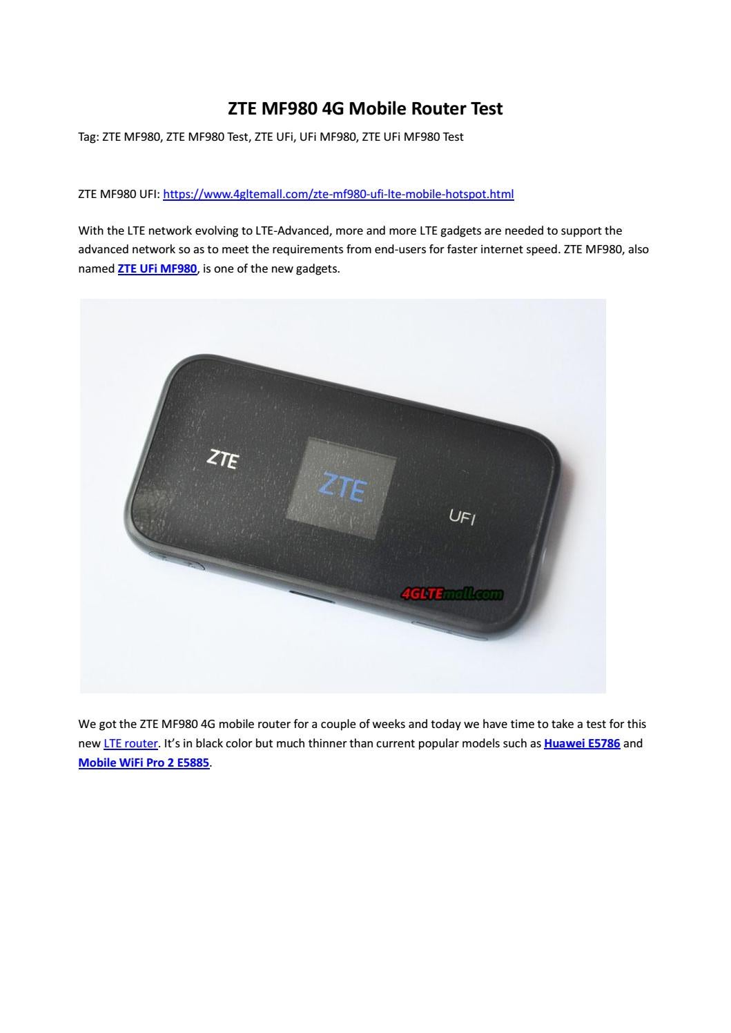 zte ufi mf980 4g mobile router test by lte mall issuu. Black Bedroom Furniture Sets. Home Design Ideas