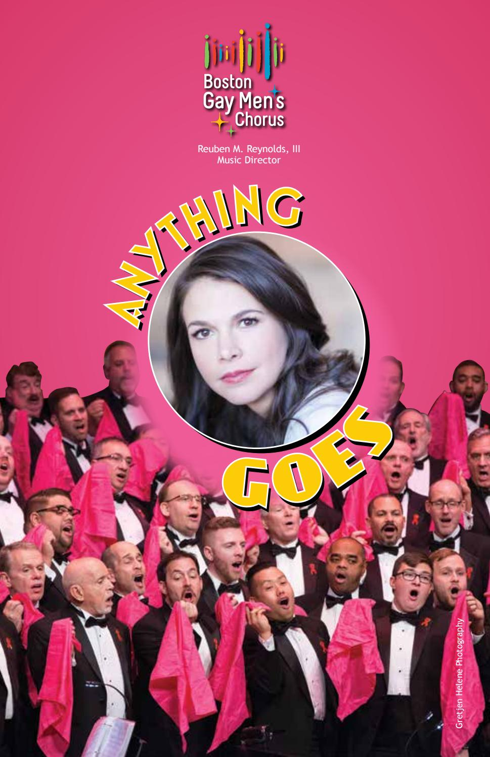Anything Goes Program - Boston Gay Men's Chorus