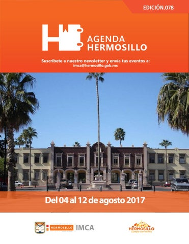 "Cover of ""Agenda Hermosillo 04 agosto 2017"""