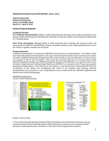 Andrews University School Of Architecture Interior Design Program Fe Report 2014 By Au Architecture And Interior Design Issuu
